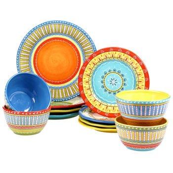 Certified International Valencia 12-piece 100 Ceramic Dinnerware Set