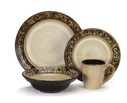 Cuisinart Dinnerware CDST1-S4G5 16 Piece Ceramic Dinnerware Set - Isere Collection