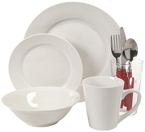 Gibson Home Regal 9787432r II 32-Piece Fine Ceramic Dinnerware Combo Set White