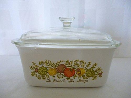 Vintage Corning Ware P-4-B Spice of Life Casserole Baking Loaf Pan Dish 15 quart