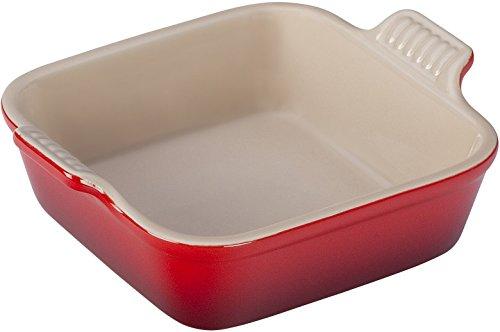 Le Creuset Heritage Stoneware 5 Square  Dish Cerise Cherry Red