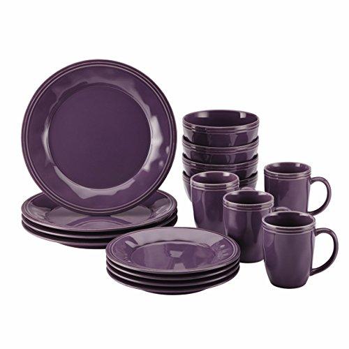 Rachael Ray 16-Piece Cucina Stoneware Dinnerware Set LavenderPurple