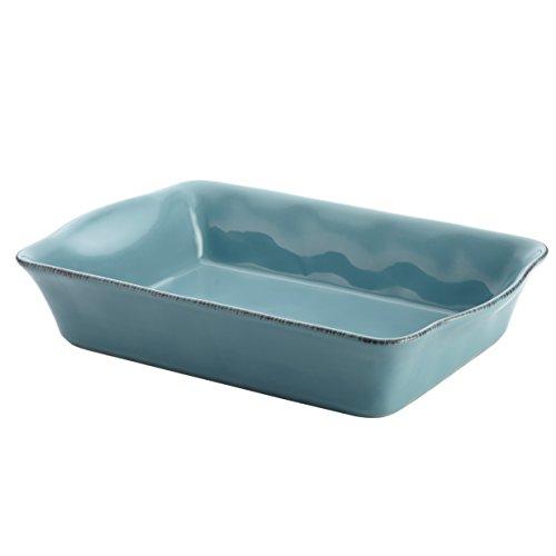 Rachael Ray Cucina Stoneware 9-Inch x 13-Inch Rectangular Baker Agave Blue