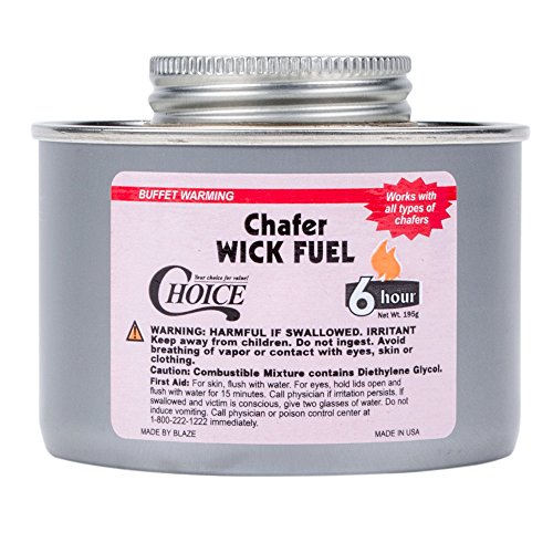 Choice 6 Hour Wick Chafing Dish Fuel - 24Case