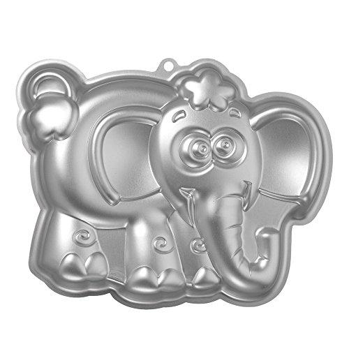 SODIALR Aluminum elephant shaped cake mold