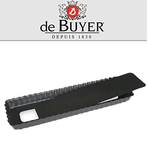 De Buyer Non-Stick Fluted Rectangular Tart Pan with Removable bottom - 144x41x11