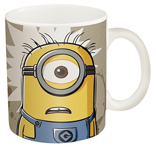 "Zak! Designs Ceramic Mug With Minions ""i Need Coffee"" Graphics, 11.5 Oz."