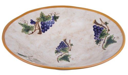 Italian Handmade Dinner Plate - Large Serving Bowl - Tuscany Pietra Italia