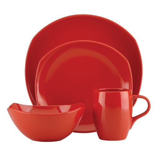Dansk Unisex Classic Fjord Chili Red 4 Piece Set Red Dinnerware