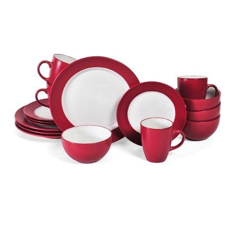 Pfaltzgraff Everyday Harmony Red 16-Piece Dinnerware Set Service for 4