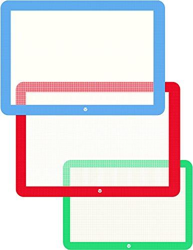 Vremi 3 Piece Silicone Baking Mat Set - Silicone Mat for Baking Sheets Nonstick - Half Quarter Sheet Silicone Baking Mats for Cookie Sheet Pans - Rolling Silicone Baking Sheet Non Stick Cooking Mats