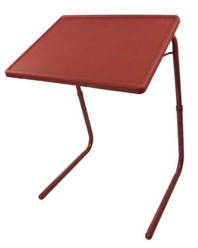 Portable Foldable Comfortable Adjustable TV Dinner Tray Table Sofa Side Desk Brown