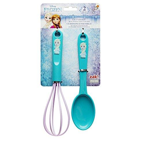 Zak Designs FZNN-S080 Disneys Frozen Elsa 2 Piece Kids Baking Set Decorated