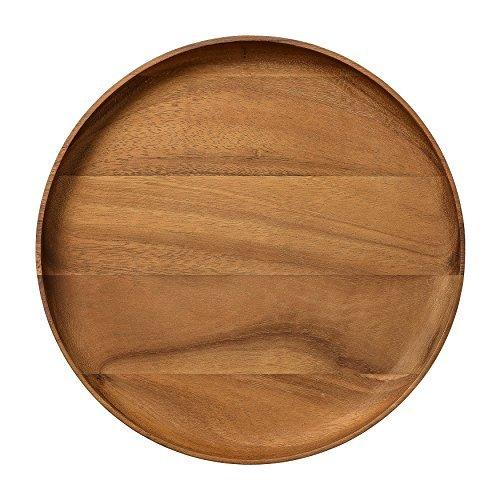 Bloomingville Round Acacia Wood Platter Brown by Bloomingville