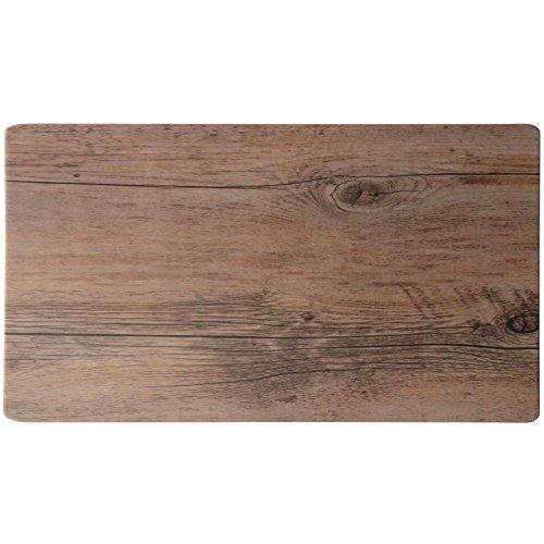 Elite Melamine Faux Wood Platter Driftwood 24L x 15W x 12H