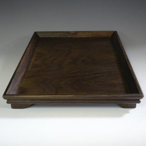 Natural Wooden Tea Coffee Wine Rectangular Serving Platter Tray