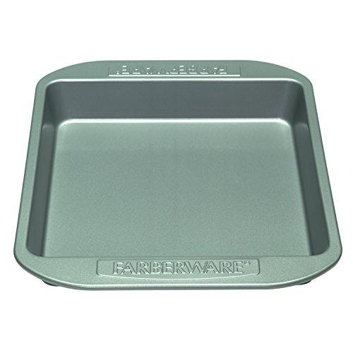 Farberware Nonstick Bakeware 9-Inch Square Cake Pan Gray