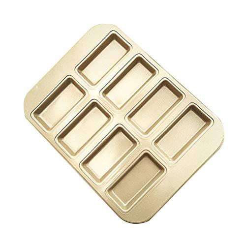 BESTONZON Nonstick Madeleine Pan Warp Resistant Nonstick Baking Pan 8-Grid Cookie Mold Soap Moulds Bakeware
