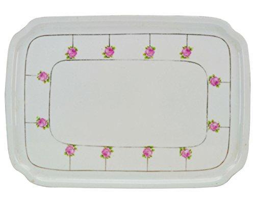 Pink Porcelain PLATTER Floral Serving Dinner Vintage Elegant Cake German 1930s LS