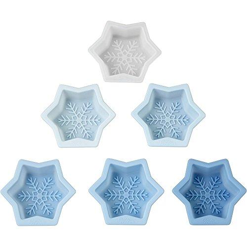 Wilton 6-Piece Snowflake Mini Cake Molds Set