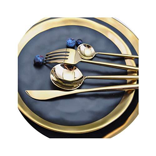 304 Stainless Steel Cutlery Tableware Set Dinnerks Knives Scoop Set Silverware Set Gold Food Kitchen Luxury Dinnerware01 Dinner Knife