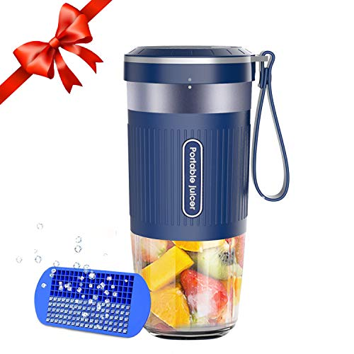 Portable Blender Cordless Personal Blender Juicer Mini Mixer Waterproof Smoothie Blender With USB Rechargeable BPA Free Tritan 300ml Home Office Sports Travel Outdoors