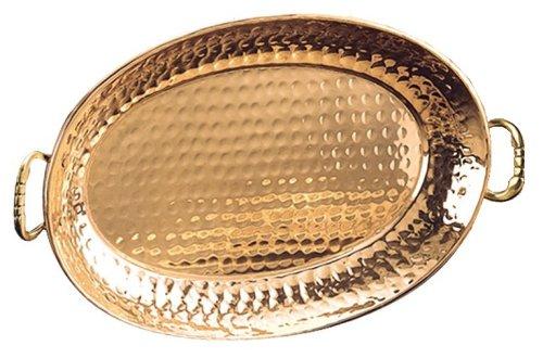 Old Dutch Decor Copper 13 14 x 8 34 Oval Tray
