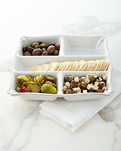 Juliska Berry and Thread Whitewash Appetizer Platter by Juliska