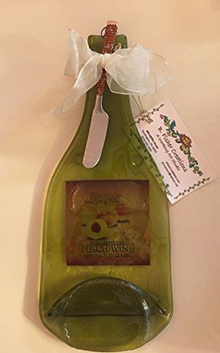 Recycled Wine Bottle Platter - PA Peach Wine - CheeseAppetizer Platter