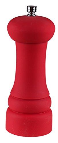 Red Salt Pepper Burr Grinder  Long Lasting Ceramic Grinder Head  Modern Matte Red Design  Easy Fill Top Grip