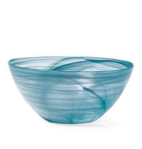 Mikasa Swirl Teal Glass Serving Bowl by Mikasa