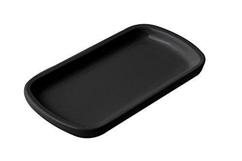 Bon Chef 9083BLK Aluminum Sizzle Platter 8 Length x 4-12 Width Black Pack of 3