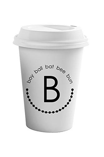Style In Print Alphabet B Boy Ball Bat Bee Bun Coffee Ceramic Travel Tumbler Mug 11oz