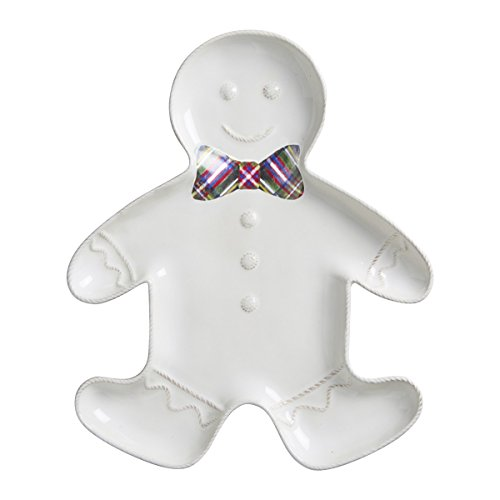 Juliska Berry thread Whitewash Christmas Gingerbread Platter