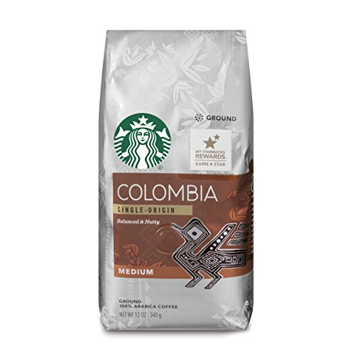 Starbucks Colombia Medium Roast Ground Coffee 12-Ounce BagPack of 6
