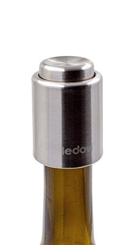 ledovi Stainless Steel Vacuum Wine Stopper WS08 - Pump Inside - Keep Your Best Wine Fresh