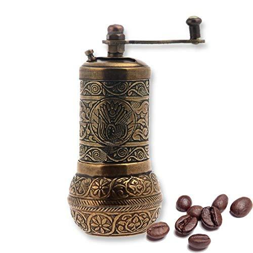 Turkish Handmade Copper Coffee Salt Pepper Spice Grinder Mill 12cm Autentic