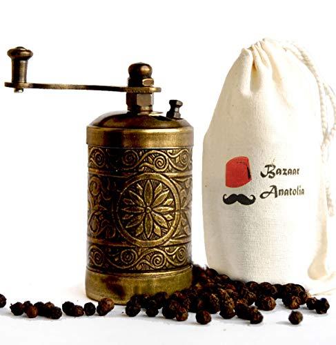 Turkish Handmade Grinder Spice Grinder Pepper Grinder Pepper Mill 30 Antique Gold