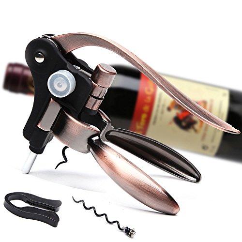 Danslesbls Best Rabbit Wine Opener Corkscrew With An Extra Corkscrew WormSpiral Luxury Golden