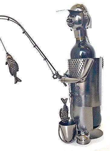 Bellaa Hand Made Designer Wine Holder Nautical Fisherman Fish Boat Wine Holder Bottle Rack by Bellaa