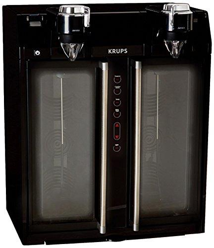 KRUPS JC200850 Wine Aerator and Dispenser 2-Bottle Black