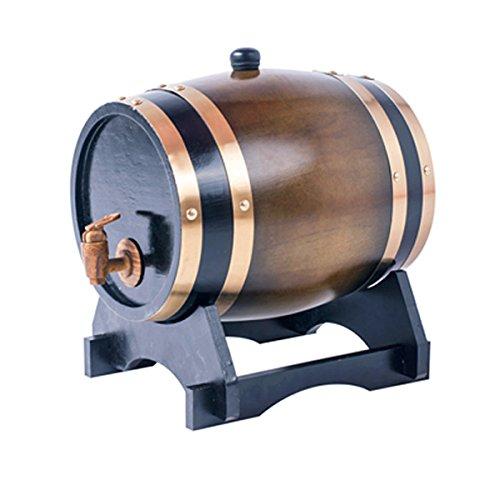 Oak barrels 15L Wooden Barrel for storage or aging wine spirits Vintage Style Tabletop Wine Dispenser Barware Wine Accessory Sets Wine Barrels Brown