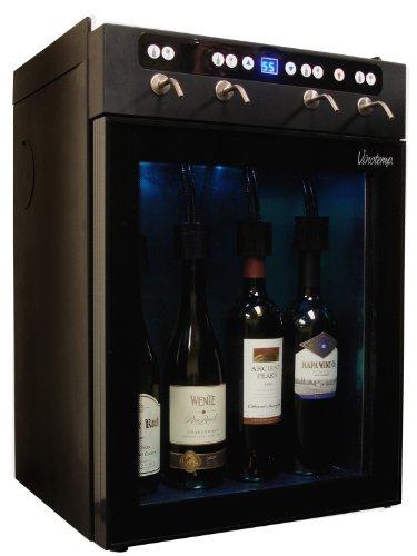 Vinotemp VT-WINEDISP4 4 Bottle Wine Dispenser Black