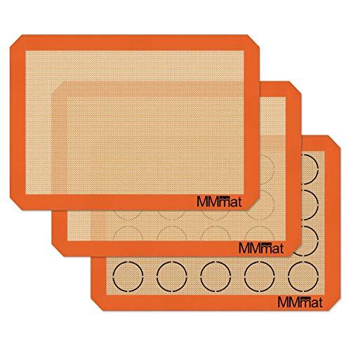 MMmat Silicone Baking Mats - Best German Silicone - Macaron Baking Mat - Set of 3