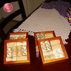 Wine Enthusiast Wine Cork Coasters Kit Set of 4