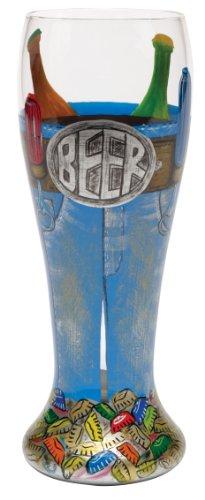 Lolita Tool Belt Pilsner Retired - Hand-Painted Gift-Boxed Wine Vino PIL-5580G