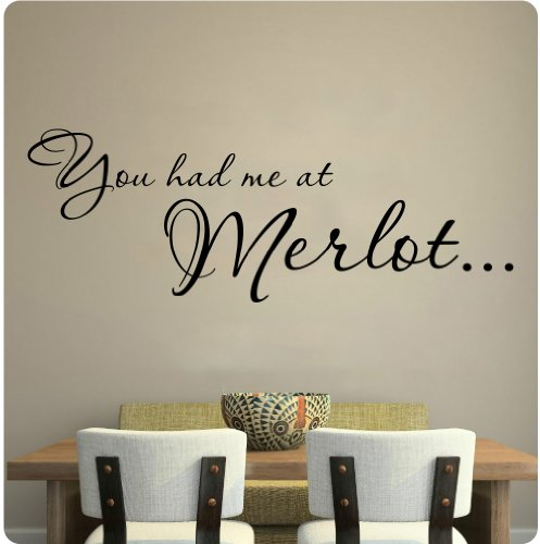30 You Had Me at Merlot Wine Kitchen Grapes Wall Decal Sticker Art Home Décor