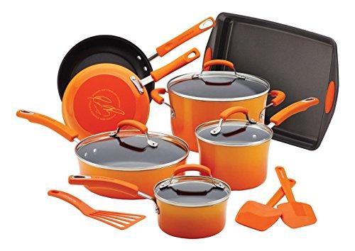 Rachael Ray Porcelain Ii Nonstick 14 Piece Cookware Set