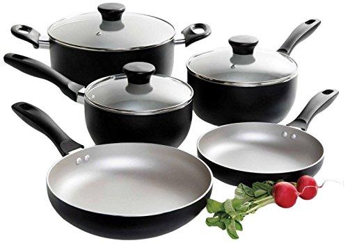 Oster 9199608 Worthington 8-Piece Non-Stick Aluminum Cookware Set Multi-Size Grey