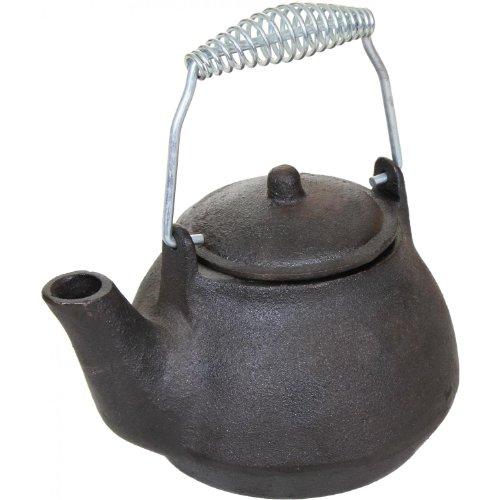 Cajun Cookware 1-quart Seasoned Cast Iron Tea Kettle - Gl10499s